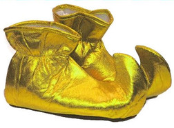 Gold Christmas Curly Toe Elf Shoes