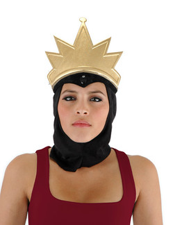 Snow White's Evil Queen Crown and Cowl Costume Hat