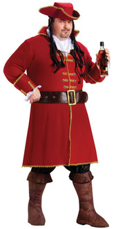 Captain Black Heart Pirate Plus Halloween Costume
