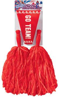 Pom Pom's And Megaphone Cheerleading Set