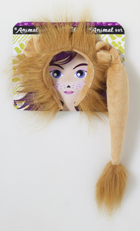Lion Ears and Tail Animal Set