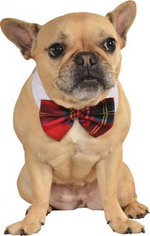 Christmas Plaid Pet Bow Tie