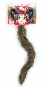 Fox Cat and Ear Tail Set