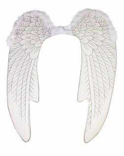 White and Silver Angel Wings