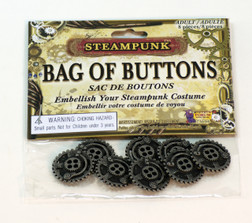Steampunk Bag of Gear Buttons