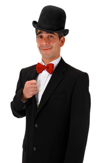 Tall Derby Top Hat in Black