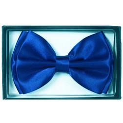 Suave Navy Blue Satin Bow Tie