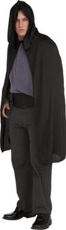Unisex Short Black Hooded Cape