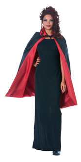 Red and Black Reversible Short Cape
