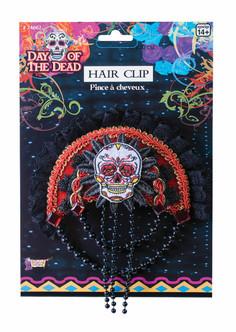 Day of the Dead Skull Hair Clip