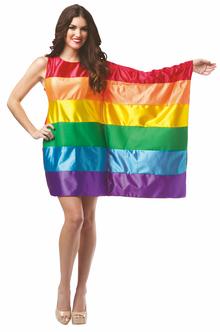 Rainbow Flag Dress Costume