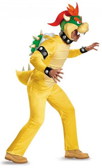 Deluxe Adult Bowser Super Mario Costume