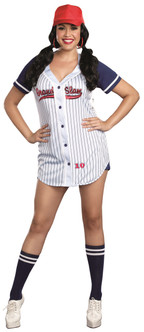 Grand Slam Baseball Babe Costume - Plus Size