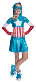 Childen's American Dream Captain America Hoodie Dress