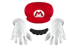 Super Mario Child Size Hat Moustache & Gloves Kit