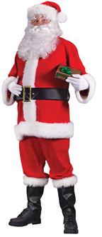 Plus Size Flannel Santacon Santa Suit
