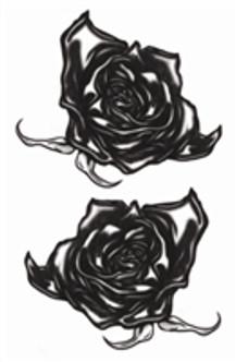 Vintage Black Roses Temporary Tattoo's