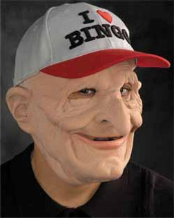 Be-Nign Latex Old Man Mask with Ball Cap
