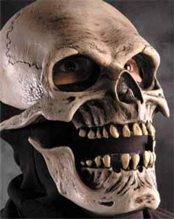 Moving Mouth Deluxe Death Skull Mask