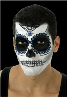 Day fo the Dead Sugar Skull Make-up Kit in Blue