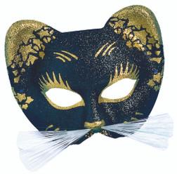 Gold Italian Gattoni Cat Mask