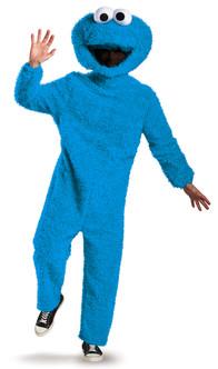 Adult Plush Cookie Monster Sesame Street Costume