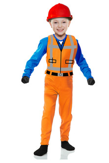 CLEARANCE - Toddler's Block Builder/Construction Worker Lego Movie Costume