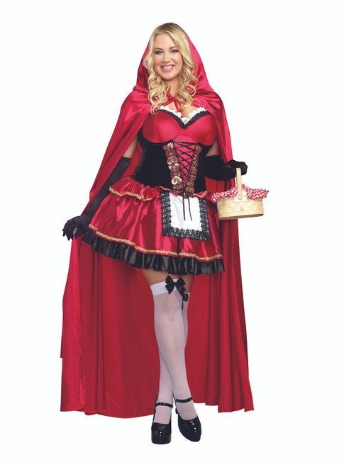 Sexy Little Red Riding Hood Costume - Plus Size