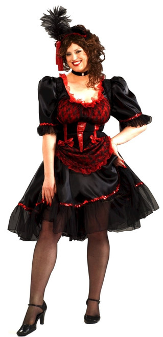 Wild West Saloon Girl Costume - Plus Size