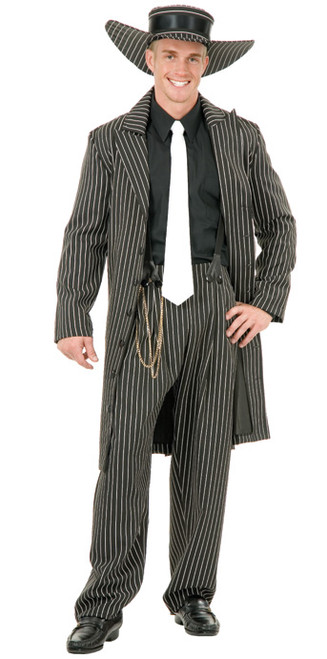 Mens 20s Black Gangster Zoot Suit Costume