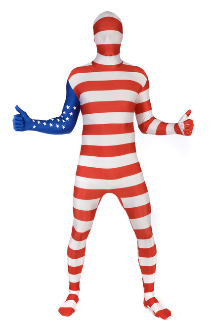 USA Flag Adult Morphsuit