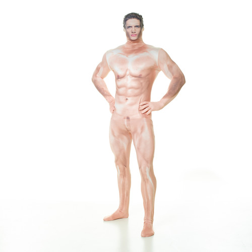 Censored Naked Man Adult Morphsuit Action