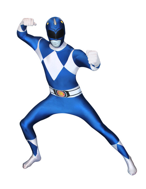 Blue Power Ranger Adult Morphsuit