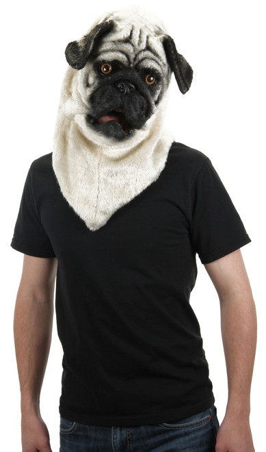 Realistic Mouth Moving Pug Mask
