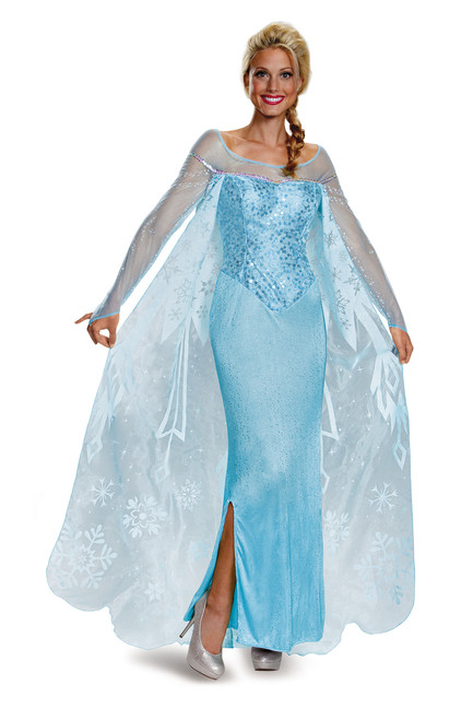 Prestige Elsa Frozen Costume - Plus Size
