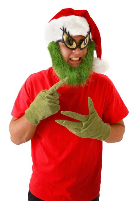 Dr Seuss Grinch Santa Hat and Beard
