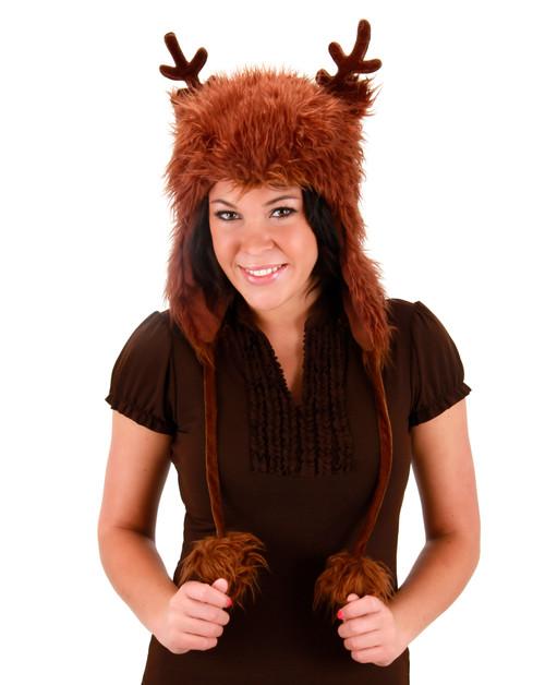 Reindeer Hoodie Hat