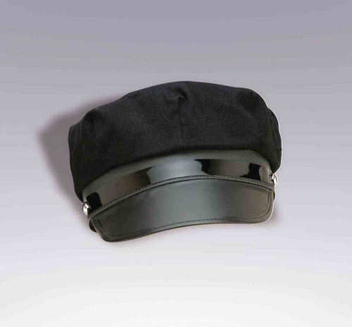Adjustable Black Chauffeur Hat