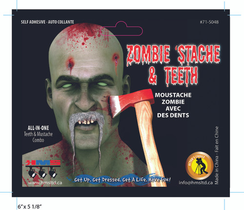Zombie Moustache and Teeth Kit