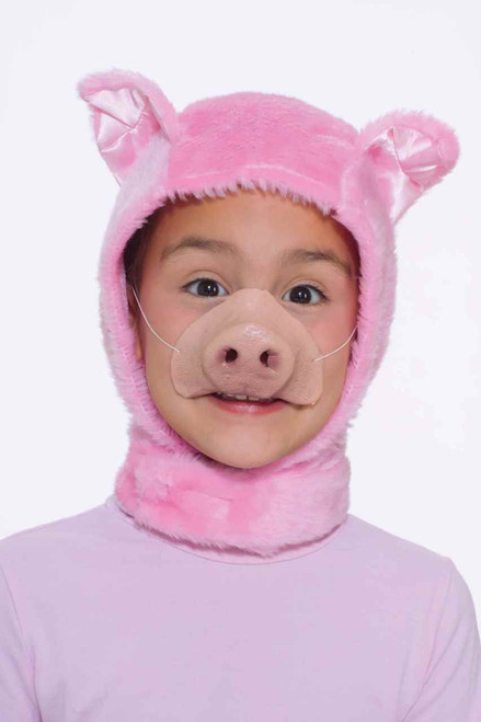 Child Pig Hood and Nose Set