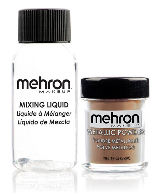 Mehron Gold Metallic Powder Makeup Kit