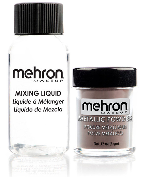 Mehron Bronze Metallic Powder Makeup Kit