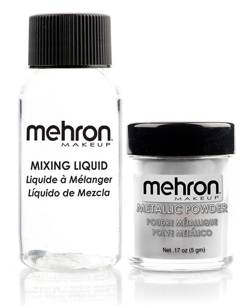 Mehron Silver Metallic Powder Kit