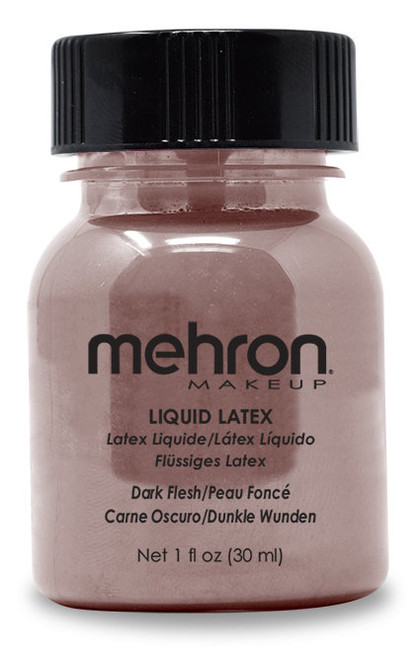 Mehron Dark Flesh Liquid Latex with Brush - 1oz