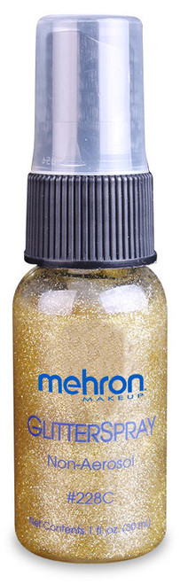 Mehron Hair and Body GlitterSpray™ - Gold