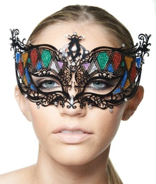 Black Rainbow Laser-Cut Mask