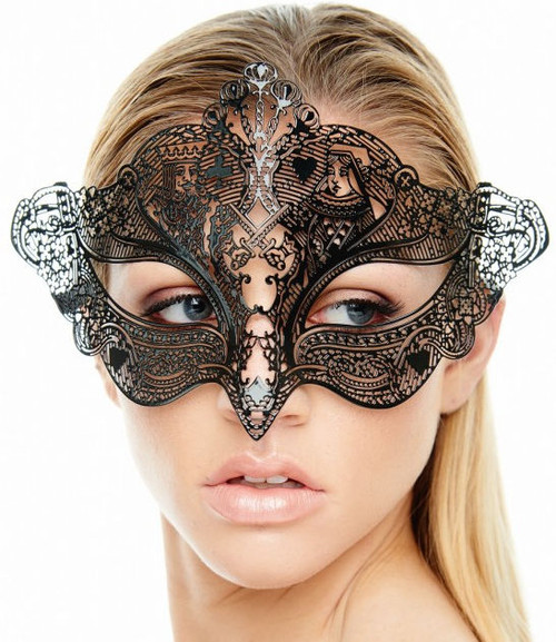 King and Queen of Cards Laser Masquerade Mask