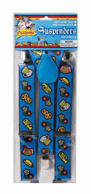 Blue Oktoberfest Suspenders