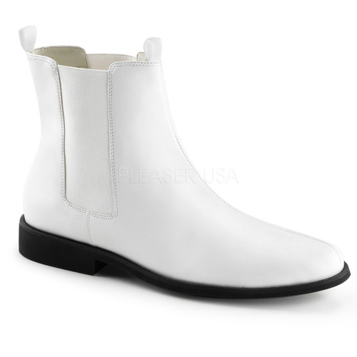 Mens White Trooper Boot
