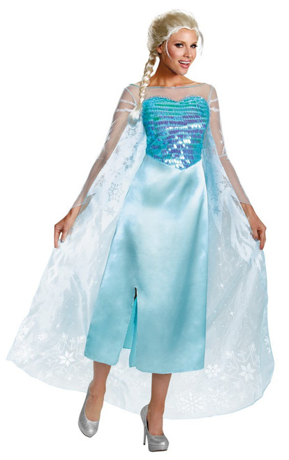 Deluxe Elsa Frozen Costume - Plus Size